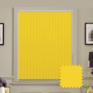 Unicolour Luna Yellow 5 inch Vertical Blinds - made to measure